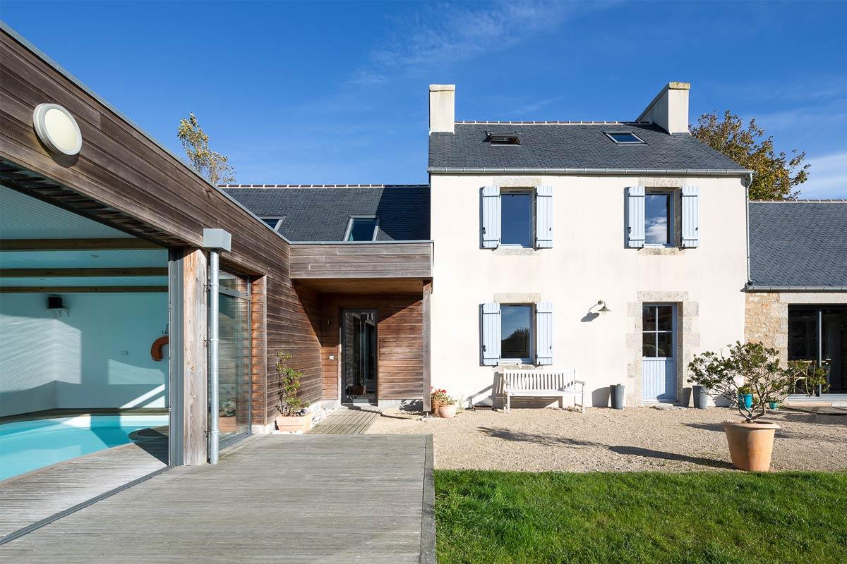 Extension Maison Piscine Couverte réhabilitation, extension et création d'une piscine - calc