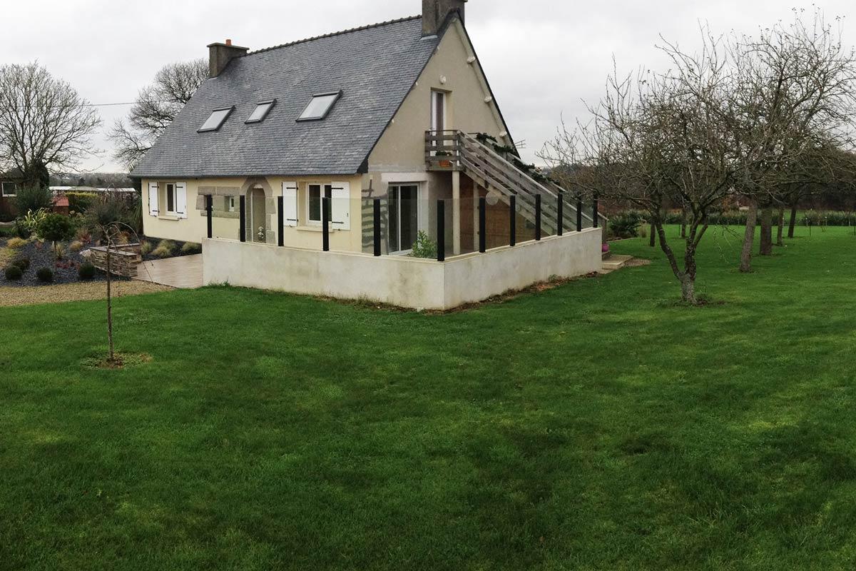 Agrandissement Maison Néo Bretonne extension d'une maison néo-bretonne - calc architectes